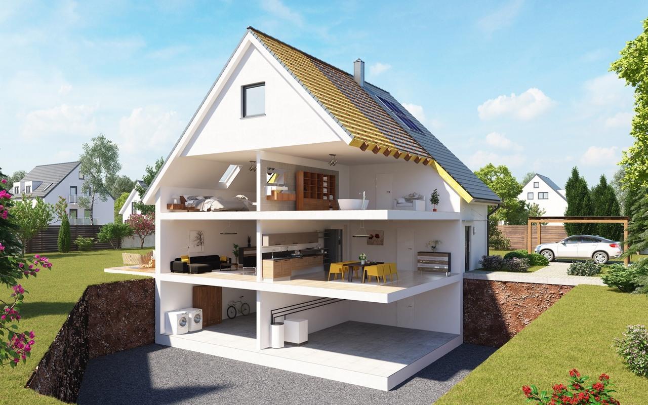 Haus Schnitt